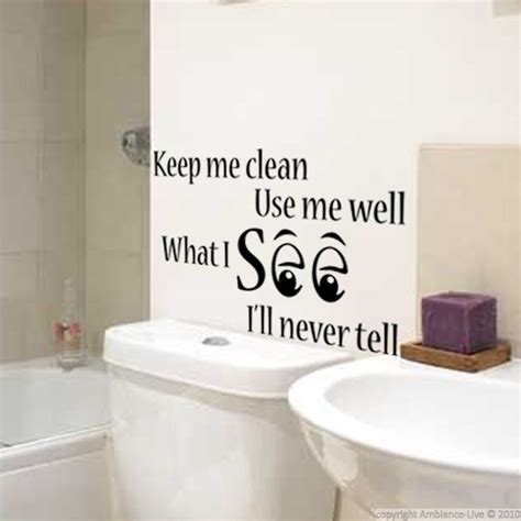 stickers muraux pour wc sticker mural keep clean ambiance sticker divers