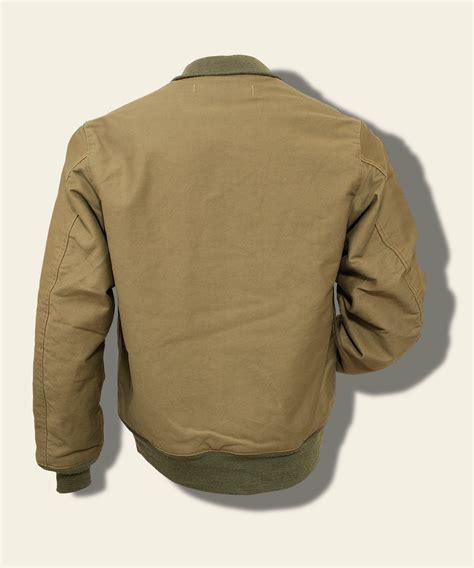 buzz rickson usn hook front deck jacket khaki history preservation