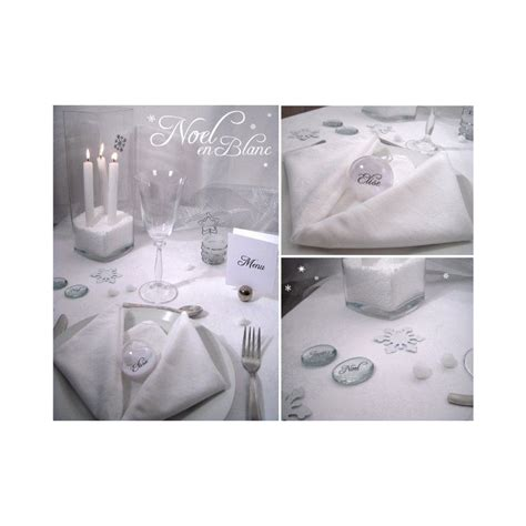table noel blanc argent