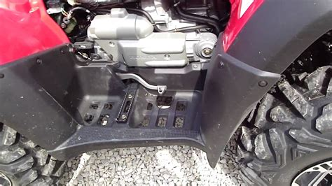 Boat Engine Makes Grinding Noise When Starting by 2005 Honda Rincon With 300 Miles Has Grinding Noise From