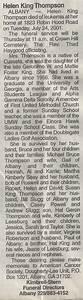Helen King Thompson Obituary – Kings of Cusseta