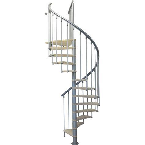 escalier colima 231 on rond bois m 233 tal gris leroy merlin
