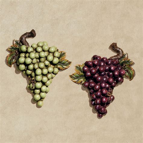 bountiful grapes wall accent set