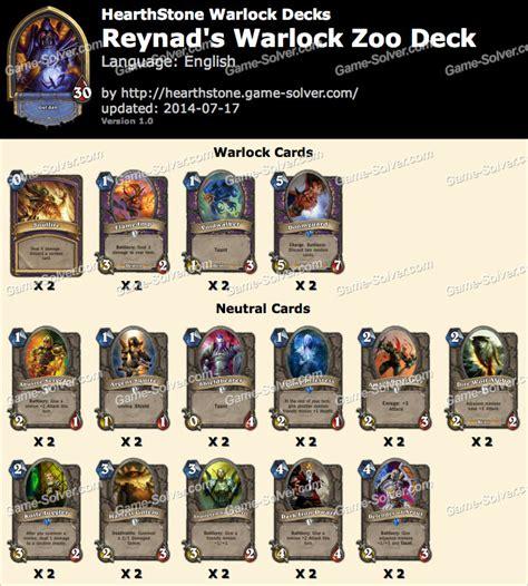reynad warlock zoo deck