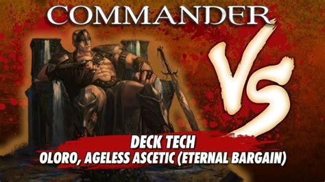 commander versus series deck tech eternal bargain oloro ageless ascetic