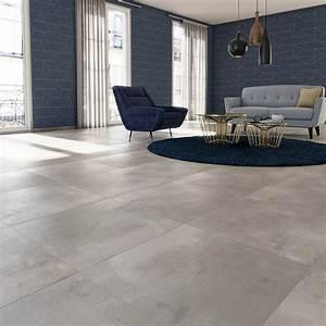 Küchentisch 60 X 60 : carrelage sol et mur gris clair effet b ton satinon x cm leroy merlin ~ Markanthonyermac.com Haus und Dekorationen