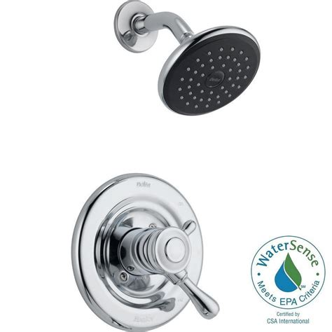 delta leland 1 handle shower only faucet trim kit in chrome valve not included t17278 the