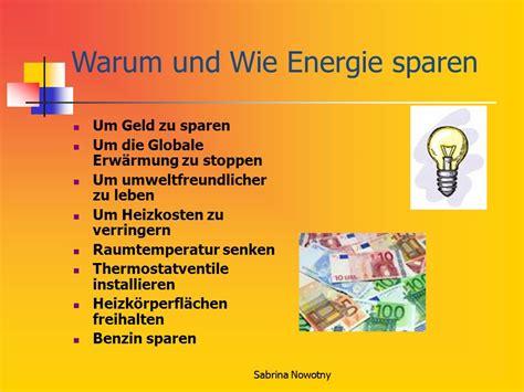 Energiesparen Zusammenfassung Einer Auswahl Von