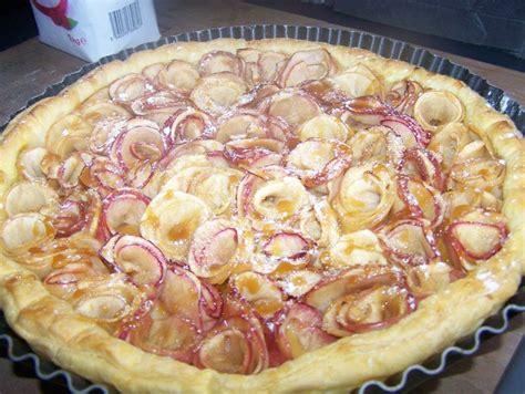 tarte aux pommes en fleur du bruit dans ma cuisine