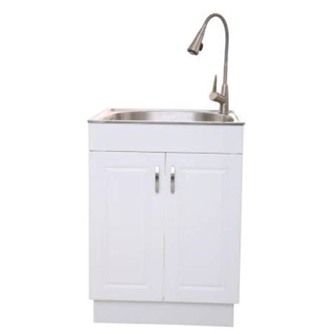 glacier bay presenza all in one 25 98 in x 22 83 in x 31 10 in stainless steel laundry sink