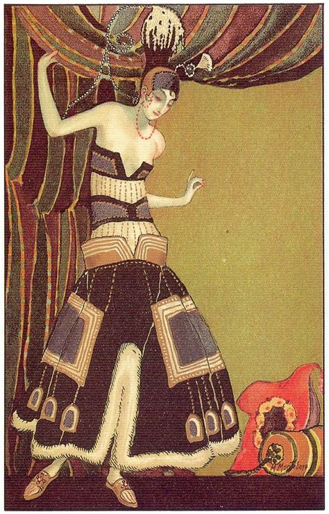 the flapper m montedoro deco postcard 4 1920s