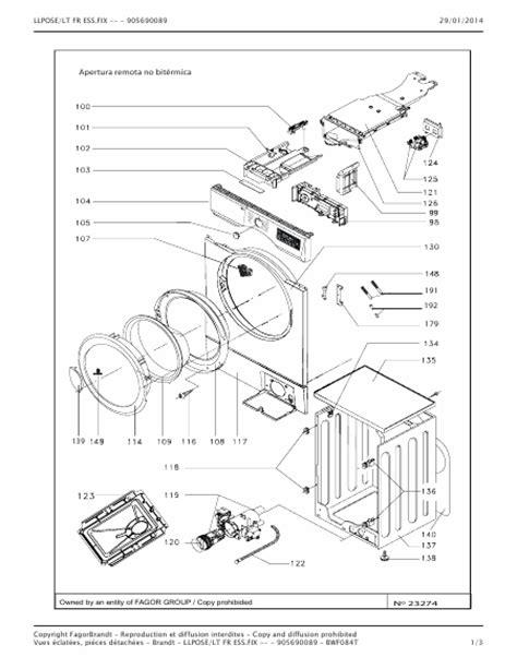 brandt bwf084t sch 233 t 233 l 233 charger pdf lave linge francais