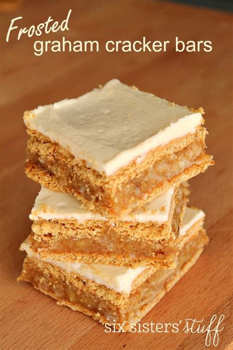 frosted graham cracker bars recipe butter coconut and easy desserts