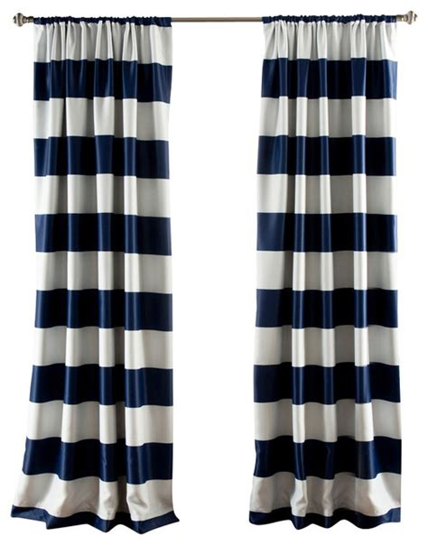 Navy Striped Curtain Panels by Stripe Blackout Navy Window Curtain Contemporary