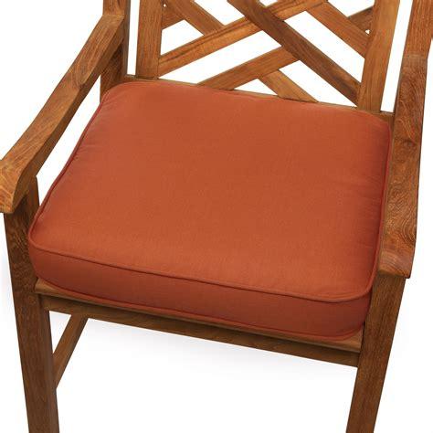 mozaic indoor outdoor corded chair cushion 20 inch rust patio lawn garden