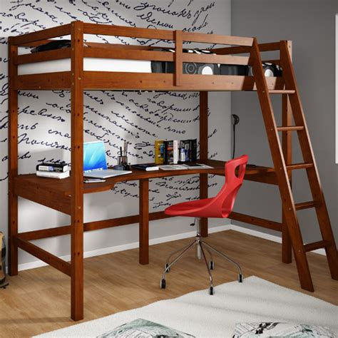 donco donco loft bed with shelves