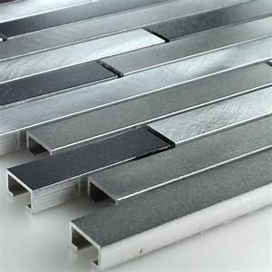 Wandspiegel Metall Schwarz : muster aluminium alu metall mosaik fliesen schwarz silber mix ebay ~ Markanthonyermac.com Haus und Dekorationen