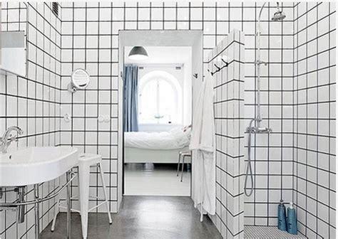 du carrelage blanc dans la salle de bain c est zen