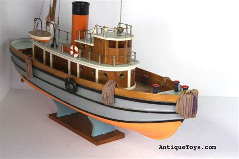 Toy Boat At Home by Japanese Wooden Tug Boat Toy Antique Toys For Sale