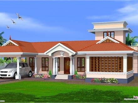 Feet Kerala Model One Floor House Kerala Home Design And