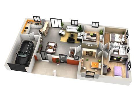 plan interieur maison 3d maison moderne