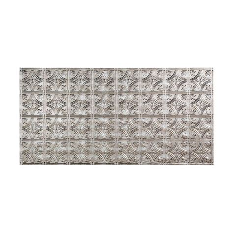 fasade traditional 1 2 ft x 4 ft glue up ceiling tile in crosshatch silver g50 21 the home