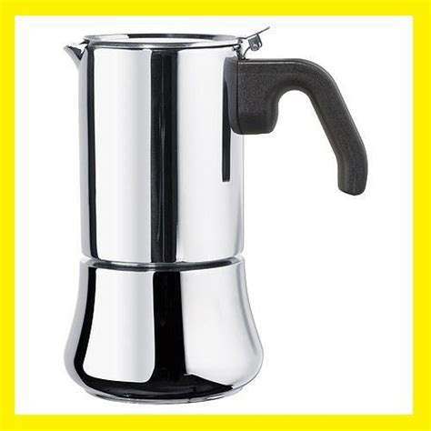 Stove Top Stainless Steel Espresso Coffee Maker 6 CpNEW