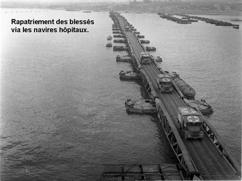 rapatriement des bless 233 s par le port artificiel d arromanches