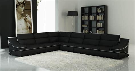 deco in canape d angle modulable cuir design noir et blanc roxa roxa gauche noir blanc