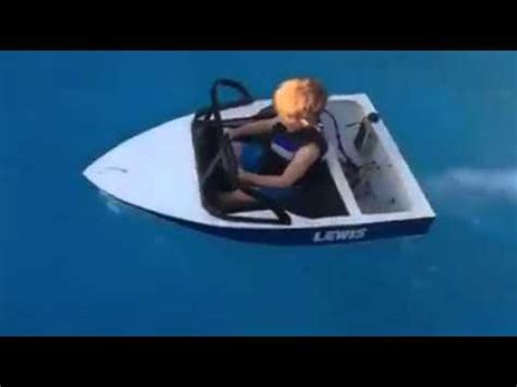 Boat Driving Youtube by Little Dude Driving Boat In Pool Youtube
