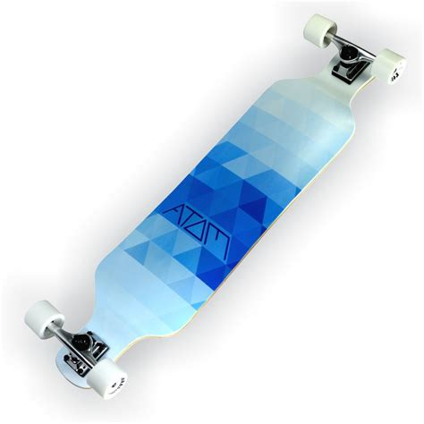atom 39 quot drop deck longboard blue triangles california kiteboarding 187 california kiteboarding