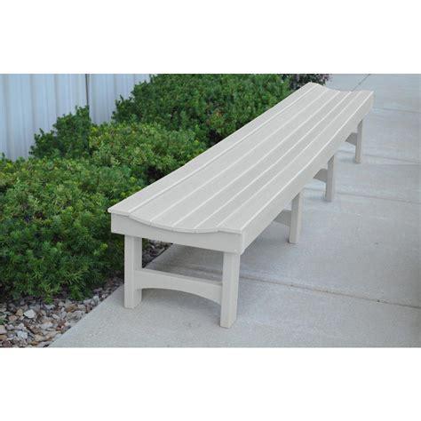 8 Ft White Garden Bench