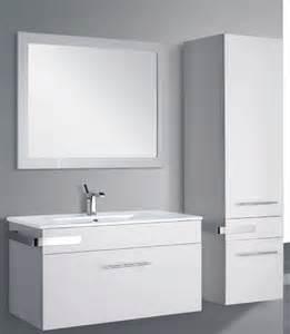 meuble salle de bain laque blanc