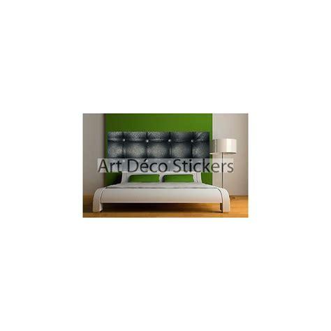 sticker t 234 te de lit d 233 coration murale capitonn 233 e noir r 233 f 3619 stickers muraux deco