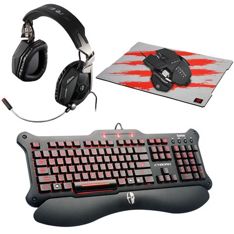 mad catz c y b o r g kit 5 pack clavier souris mad catz