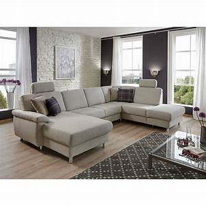 Sofa In U Form : wohnlandschaft winston ecksofa sofa polsterm bel u form in grau wei 321 cm ebay ~ Markanthonyermac.com Haus und Dekorationen