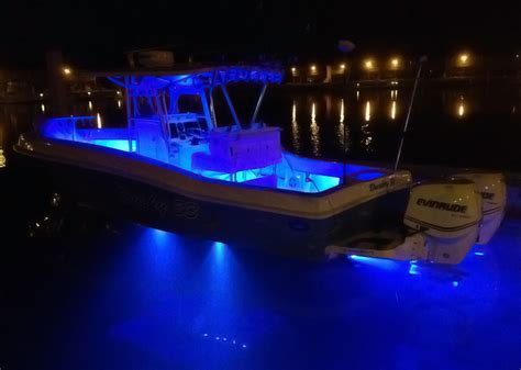 Led Boat Night Lights by Lit Up At Night Dockside This 33 Is Loaded With Over