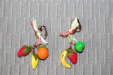 boucle d oreille fruit cr 233 ation de gourmandise en p 226 te fimo