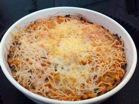 recette de p 226 te au thon gratin 233 es 224 la tomate