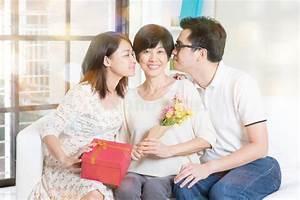 We love you mom. stock image. Image of elderly, celebrate ...