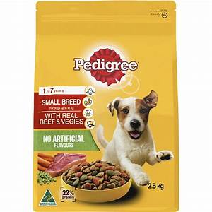 Pedigree Small Breed With Real Beef & Veggies Dry Dog Food ...