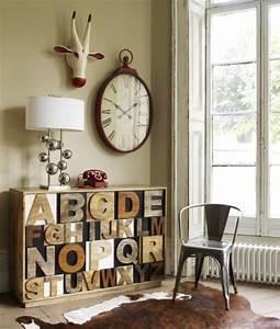 Vintage Style Deko : vintage deko f r die wand eine wanduhr im retro style ~ Markanthonyermac.com Haus und Dekorationen