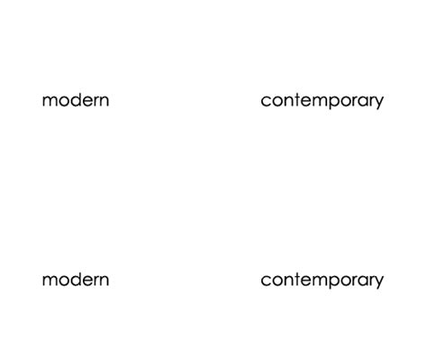 modern vs contemporary what s the difference the primary line
