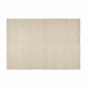 Teppich Aus Wolle : teppich aus wolle und baumwolle ecrufarben 140x200cm mojave maisons du monde ~ Markanthonyermac.com Haus und Dekorationen