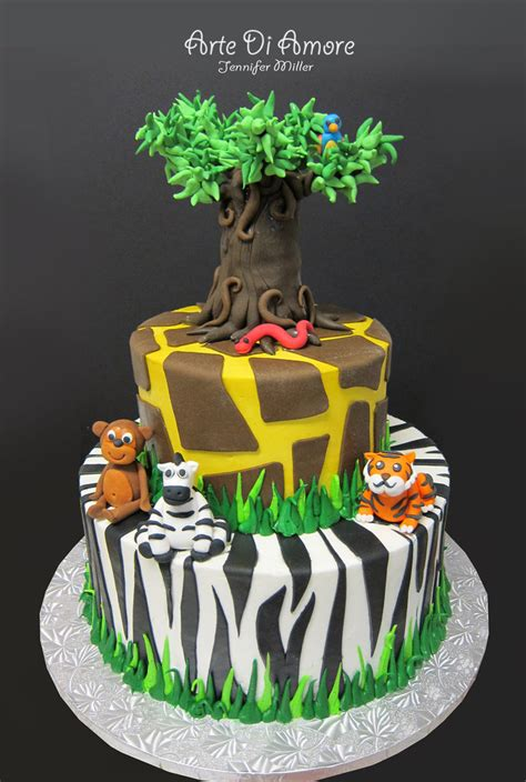 jungle theme cake safari cake by artediamore on deviantart