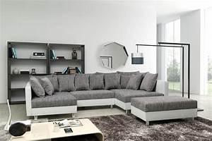 Billiger Sofa Kaufen : sofa couch ecksofa eckcouch in weiss hellgrau real ~ Markanthonyermac.com Haus und Dekorationen