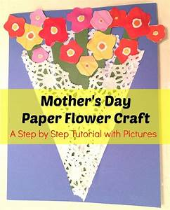 Mother's Day Paper Flower Craft Step by Step Tutorial with ...