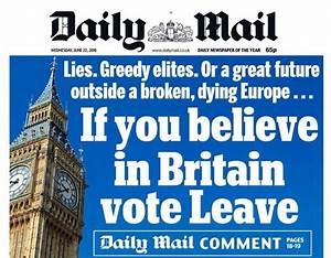 EU referendum: Daily Mail breaks with Mail on Sunday to ...