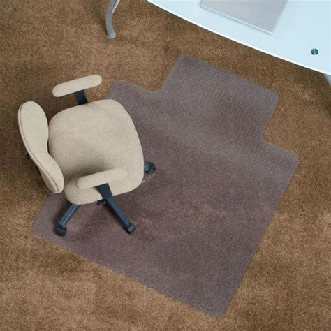 es robbins 174 everlife 36 quot x 48 quot clear lip chair mat for