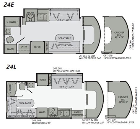 2010 fleetwood quest class c motorhome floorplans large picture